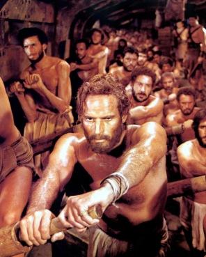 Ben Hur en las galeras