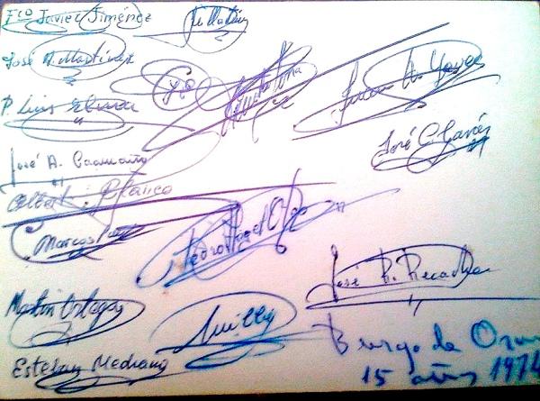 firmas-seminaristas-del-Burgo-de-Osma-1974