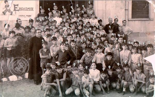 Seminaristas del Burgo de Osma en Vinuesa con nombres 1970