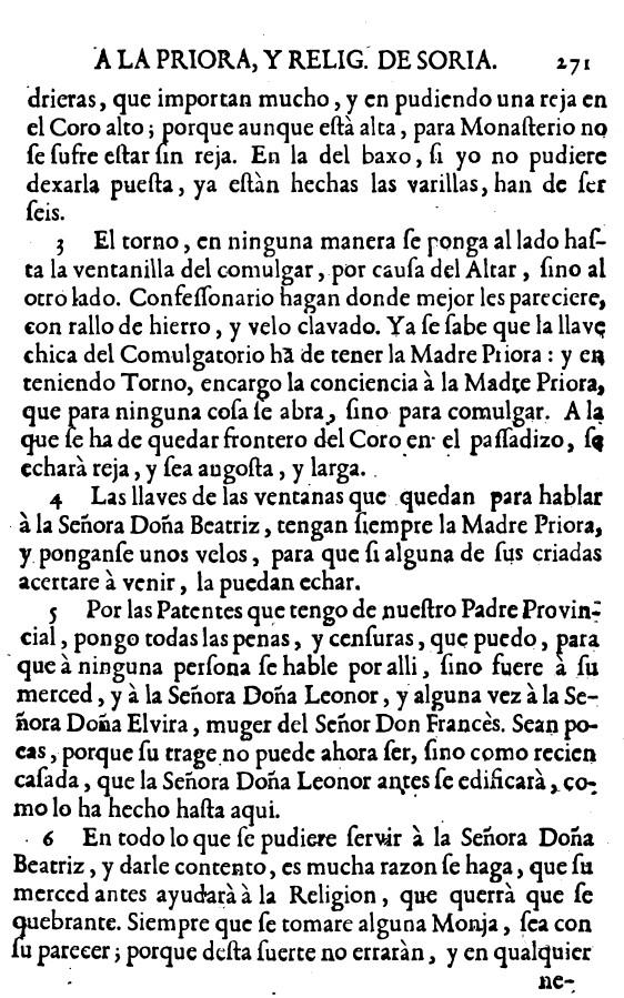 Carta de Santa Teresa de Jesus a carmelitas de Soria 2