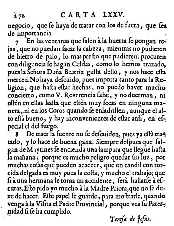Carta de Santa Teresa de Jesus a carmelitas de Soria 3