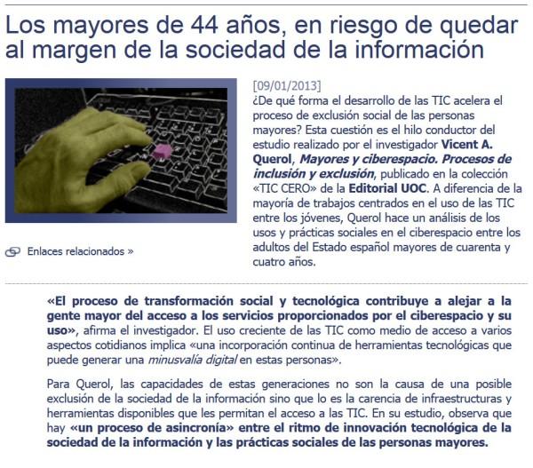 minusvalia digital en libro de Querolt