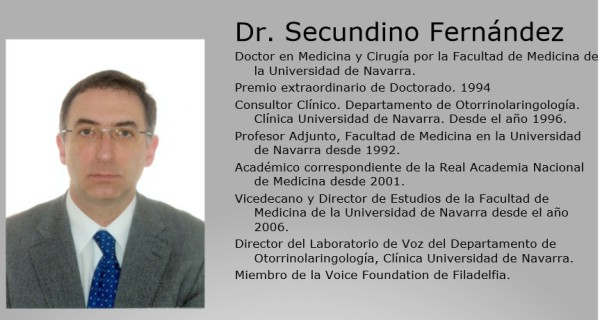 Secundino Fernandez Patologia de la Voz