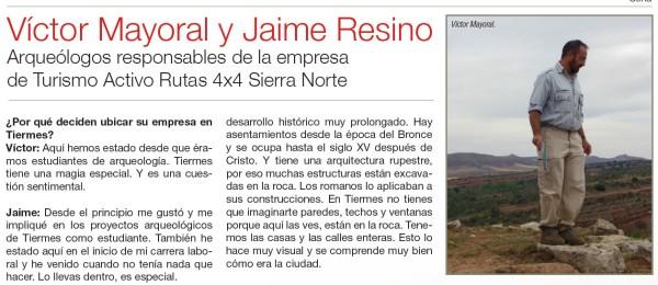 Victor Mayoral y Jaime Resino Rutas4x4 Sierra Norte