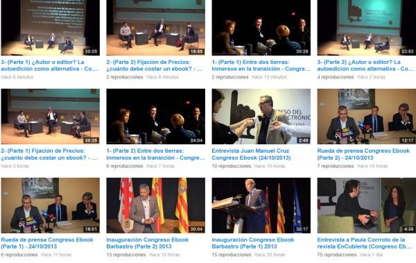 Aconsejamos la visión-audición de los vídeos de este Congreso del Libro Digital en Barbastro  http://www.youtube.com/channel/UCeomP6Q9jqzgbZnQ7w8clqg/videos