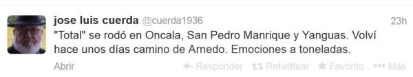 Total Jose Luis Cuerda  Twitter
