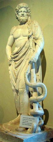 Asclepio-o-Esculpaio-con-la-serpiente