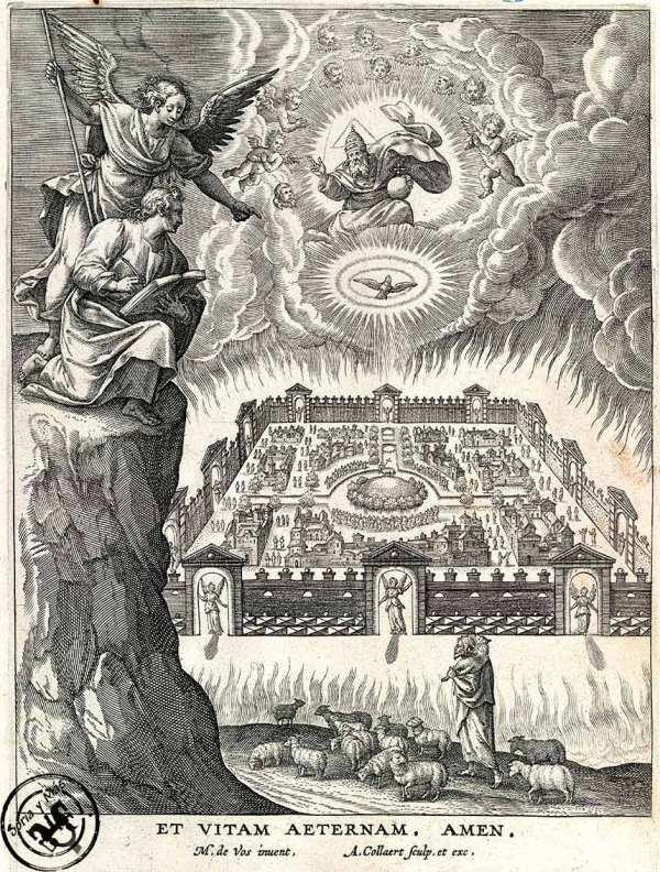 Jesusalen-Celeste,-Juan-en-Apocalipsis,-Martin-de-Vos-en-Adriae-Collaert,-a-partir-de-1585