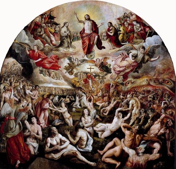 Juicio Final, cuadro de Martín de Vos en el Museo de Bellas Artes de Sevilla