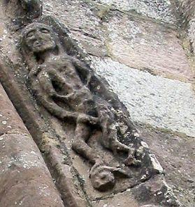 ¿Asclepio representado así en Sta. Mª de Eunate? Es posible