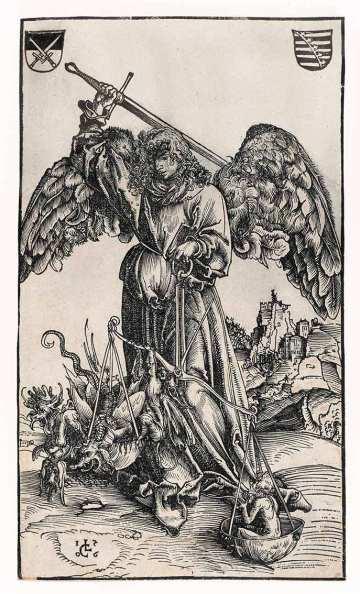 San Miguel venciendo al Dragón Apocalíptico, según  Lucas Cranach-1506