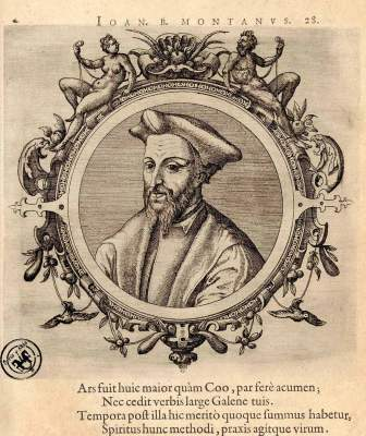 Arias Montano en ICONES VETERUM ALIQUOT, AC RECENTIUM MEDICORUM - 1574