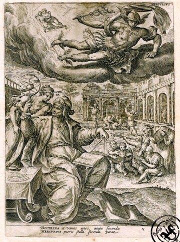 Mercurio-Hermes, ideado por Martín de Vos en 1581