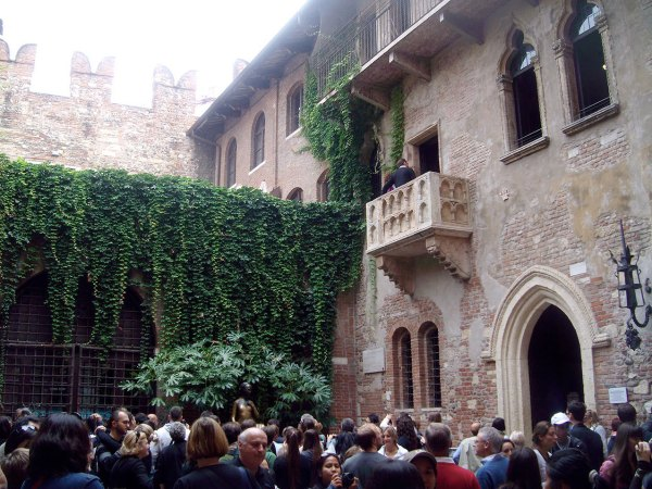 Balcón de Julieta en Verona