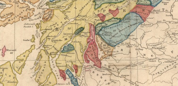 1822 - William Home LIZARS - Map of the Highlands of Scotland denoting the districts or counties inhabited by the Highland Clans