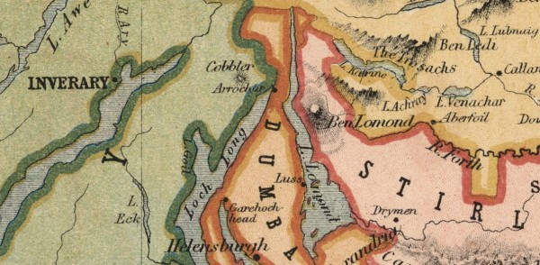 Mapa de 1852, poquitos años antes del viaje de Julio Verne
