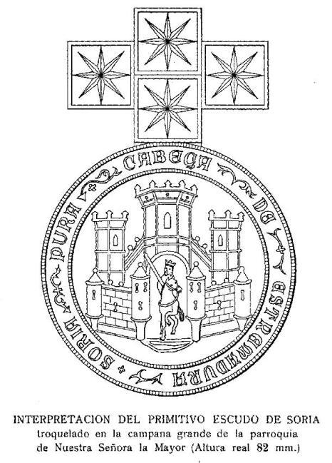 Sello concejil de Soria en la campana de la iglesia de La Mayor (c.1225)